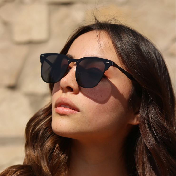 Lentes de sol ovalados negros Black Faded mujer - Blinders Online Store
