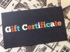 Gift Certificate - Eat More Cheese