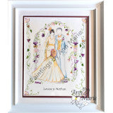 Art Deco Wedding - an ideal painting for a wedding gift or wedding anniversary gift