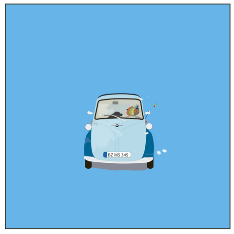 Dready Art 1956 BMW Isetta - 'I setta'