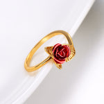 Bague Rose - Or - Amorosa Shop