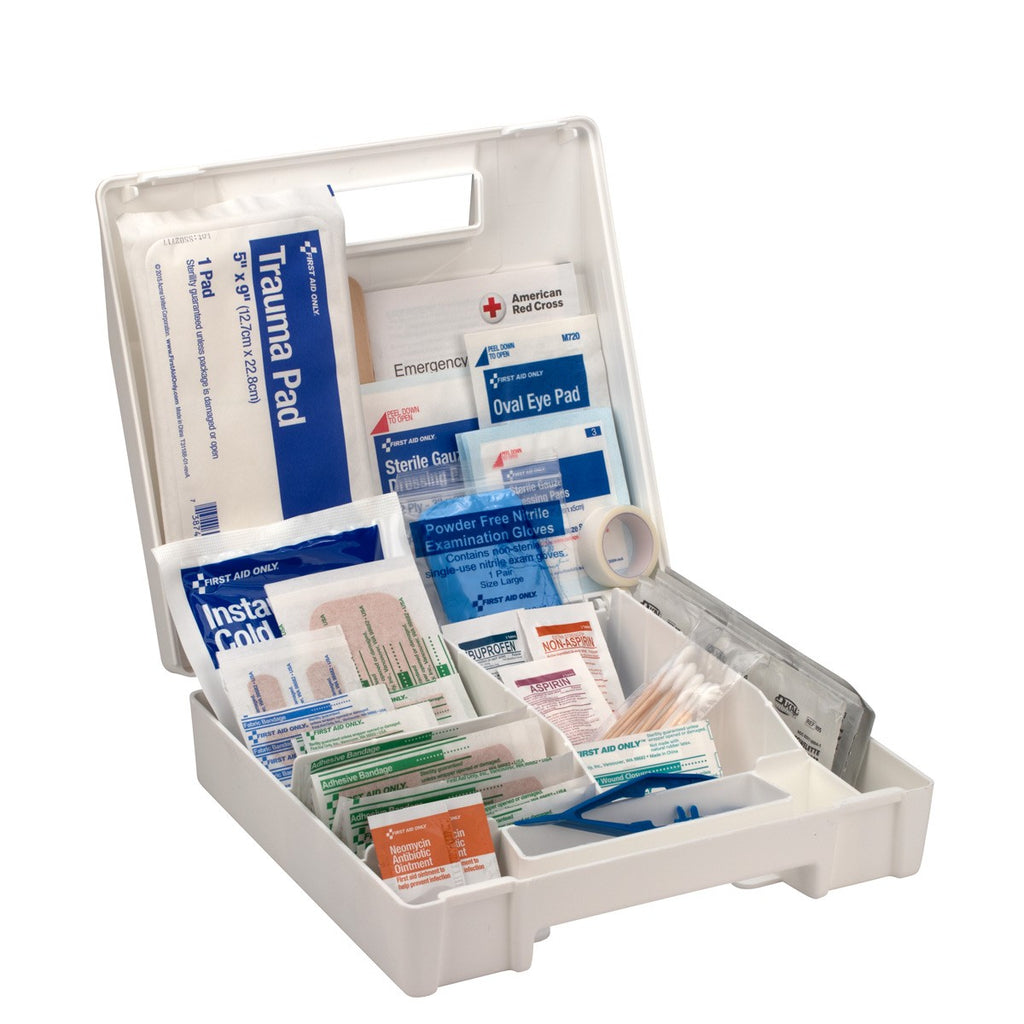 131 Piece First Aid Kit, Plastic Case