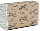 Kleenex Scott C-Fold Towels, 1-Ply, 200 sheets/pack, 12 packs per case.