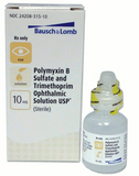 Trimethoprim Sulfate Polymyxin B Sulfate Ophthalmics Solution 10ml by Bausch & Lomb NDC# 24208-0315-10