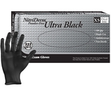 Innovative Nitriderm Ultra Black Nitrile Synthetic Exam Gloves NS PF Large (8.5 - 9) 100/Box