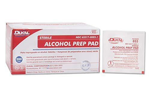 Dukal Sterile Medium Alcohol Prep Pads 200/Box