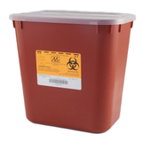 Medegen Stackable Sharps-Container, 2 Gallon Red