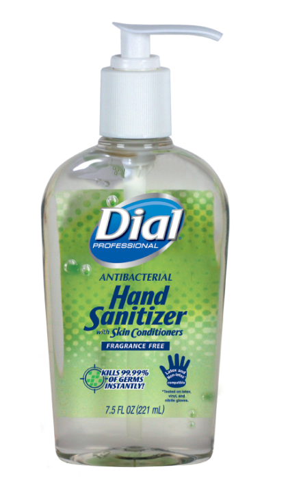 Dial Gel Hand Sanitizer with Moisturizers 7.5oz Pump