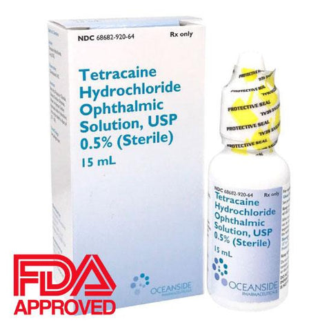 Tetracaine 0.5% Ophthalmic Solution 15mL by Bausch & Lomb, NDC# 68682-0920-64