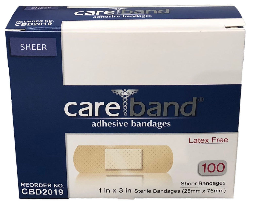 "Sheer Strips Bandages, 1"" x 3"", 100/box"