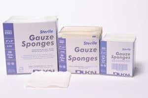 "Dukal Basic Gauze Sponges, 2's, 4"" x 4"", Sterile, 8-Ply , 50/Box"