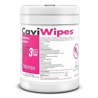 "Metrex Caviwipes Disinfecting Towelettes (6"" x 6.75""). 220/Can"