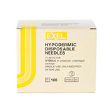 "Exel Hypodermic Needles, 30G x 1/2"", 100/Box."