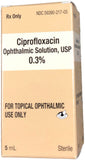 Ciprofloxacin 0.3% Solution 5ML NDC# 59390-217-05