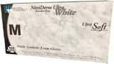 Innovative Nitriderm Ultra White Nitrile Synthetic Exam Gloves PF Medium (7.5 - 8.0) 100/Box