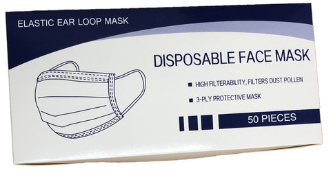 3 Ply Disposable Masks 50/Box