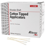 "Pro Advantage Cotton Tip Applicators, 3"", Non-Sterile, 1000/Box"