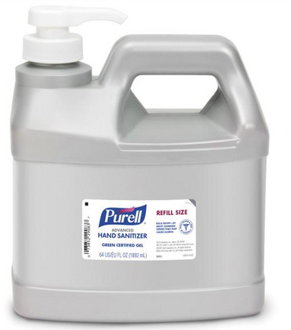 Purell Advanced Instant Hand Sanitizer, Half-Gallon Refill Pump 64oz