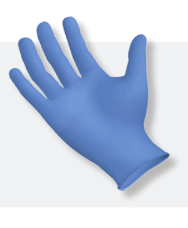 Synguard Nitrile Blue Non Sterile Gloves Medium 100/Box