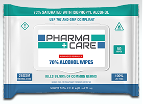 Pharmacare 70% Alcohol Soft Pack Wipes 50/Pack