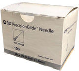 "BD Precisionglide Needles, 27G x ½"". 100/Box"
