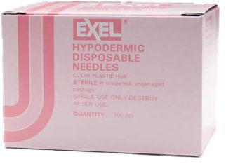 "Exel Hypodermic Needles, 18G x 1-1/2"", 100/Box"