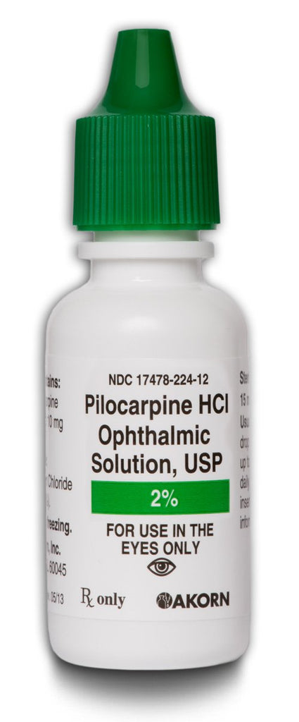 Pilocarpine HCl 2% Ophthalmic Drops Bottle 15 mL by Akorn NDC# 17478-224-12