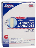 "Dukal Flexible Fabric Bandages, 1"" x 3"", 100/box"