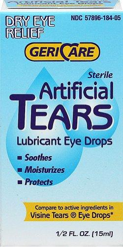 Gericare Artificial Tears Lubricant Eye Drops 0.5oz Drops 15mL