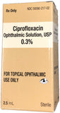 Ciprofloxacin 0.3% Solution 2.5ML NDC# 59390-217-02