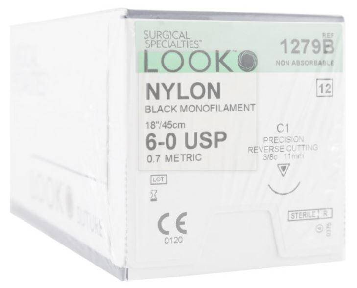 LOOK Nylon Suture 6-0, 1279B 12/Box