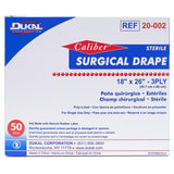 "Dukal Surgical Drapes, 18"" x 26"" Non-Fenestrated, 50/Box"