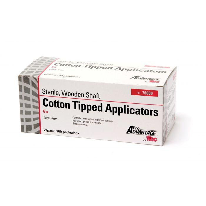 "Pro Advantage Cotton Tip Applicators, 6"", Sterile, 2's, 100/Box"