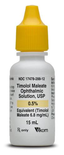 Timolol Maleate 0.5%, 15 ml by Akorn NDC# 17478-288-12