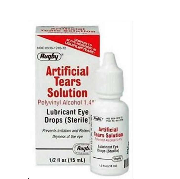 Rugby Artificial Tears Lubricant Eye Drops 0.5oz Drops 15mL