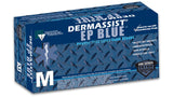 Innovative DermAssist EP BLUE Latex Exam Gloves – Extended Cuff - PF Exam Gloves Large (8.5 - 9.0) 50/Box