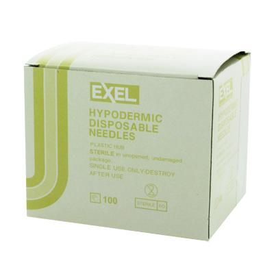 "Exel Hypodermic Needles, 19G x 1-1/2"", 100/Box"