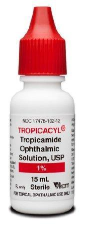 Tropicamide 1.0%, 15 ml by Akorn NDC# 17478-0102-12