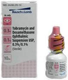 Tobramycin 0.3% & Dexamethasone 0.1%, 10 ml by Bausch & Lomb) NDC# 24208-0295-10