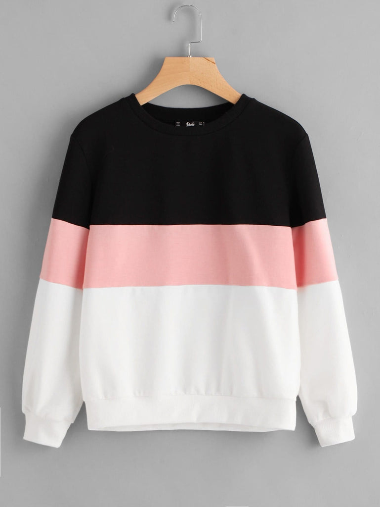SHEIN Cut And Sew Pullover - Yashry