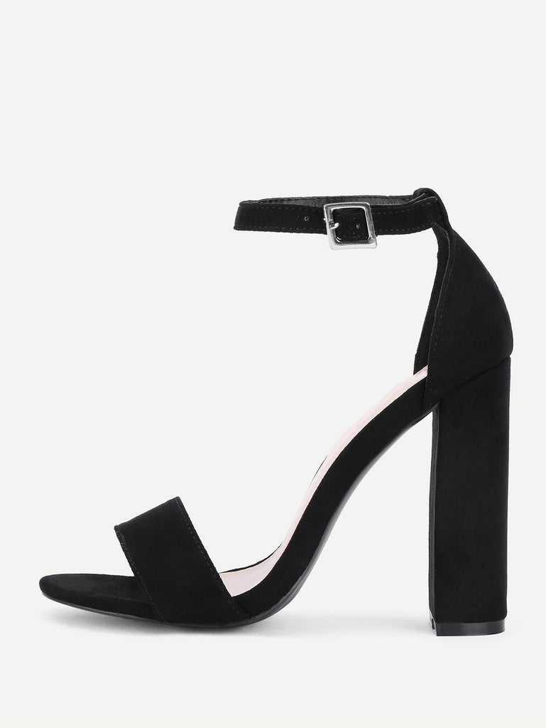 SHEIN | Two Part Ankle Strap Block Heeled Pumps - Yashry
