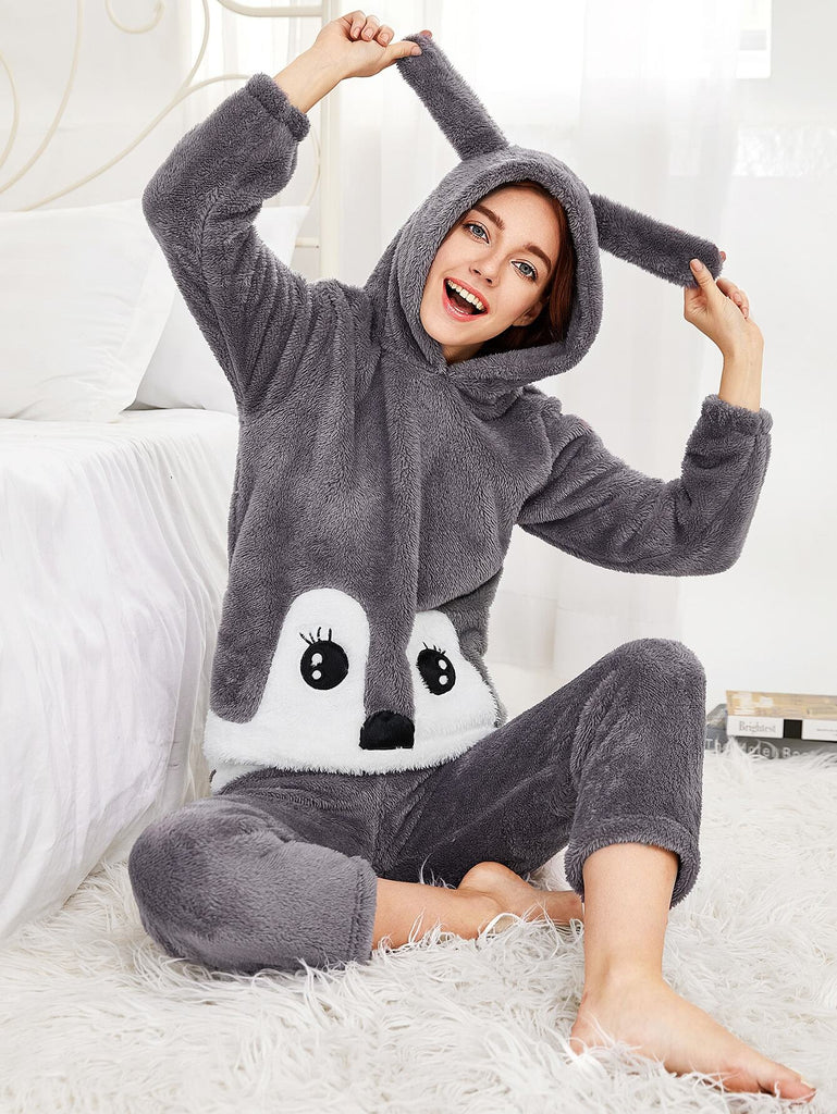 Rabbit Hooded Pajama Set