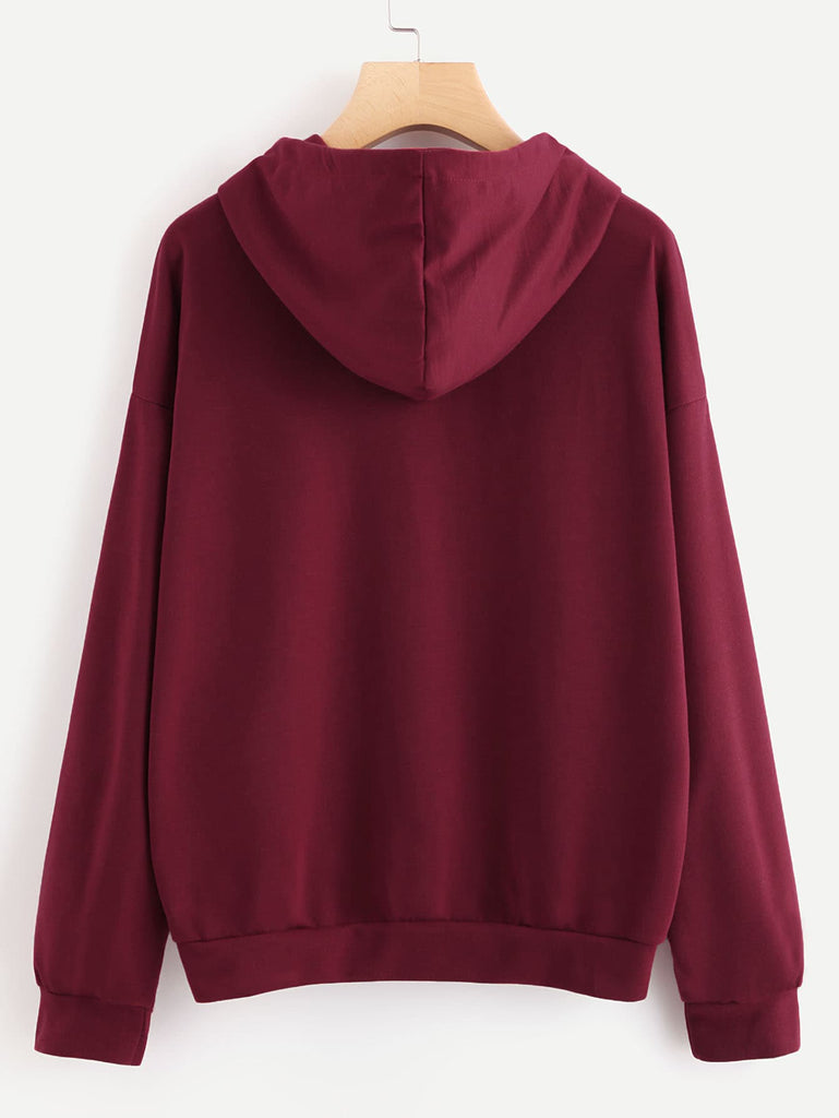 SHEIN | Plus Slogan Graphic Drop Shoulder Sweatshirt - Yashry