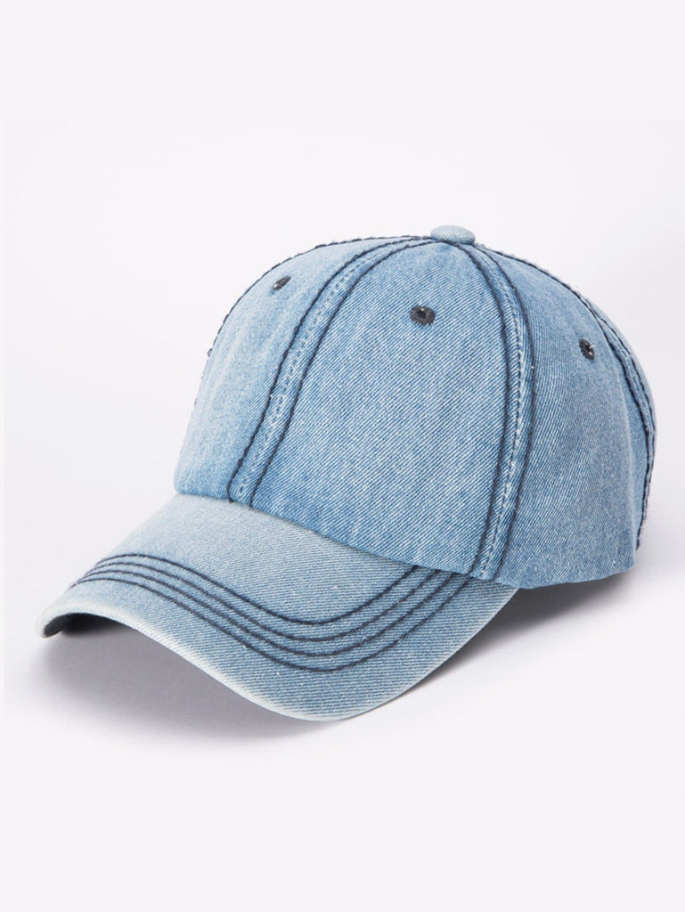 SHEIN | Men Denim Baseball Cap - Yashry