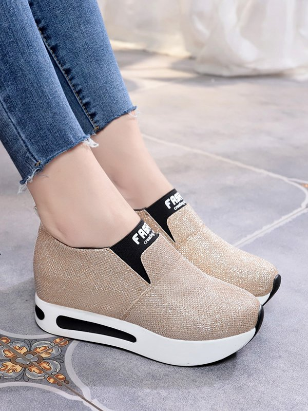 Shein | Slip On Wedge Sneakers - Yashry