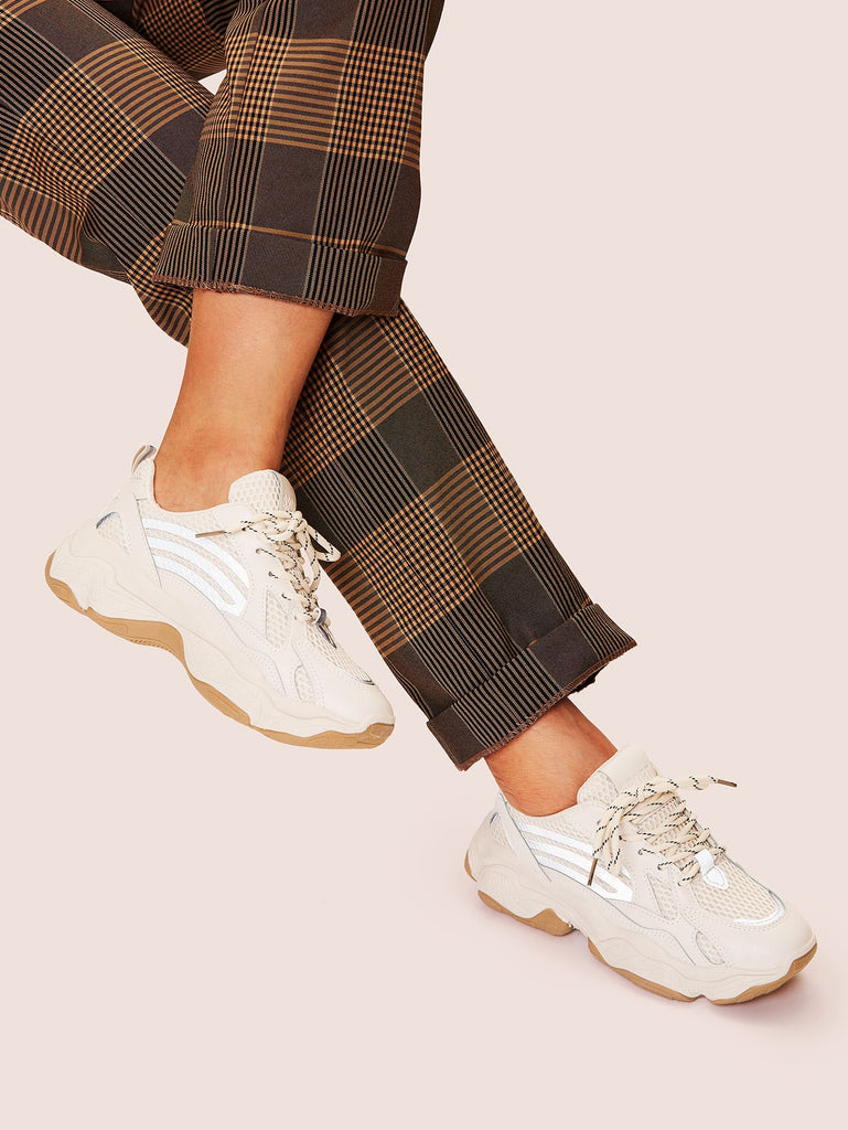 Shein | Lace-up Chunky Sneakers - Yashry