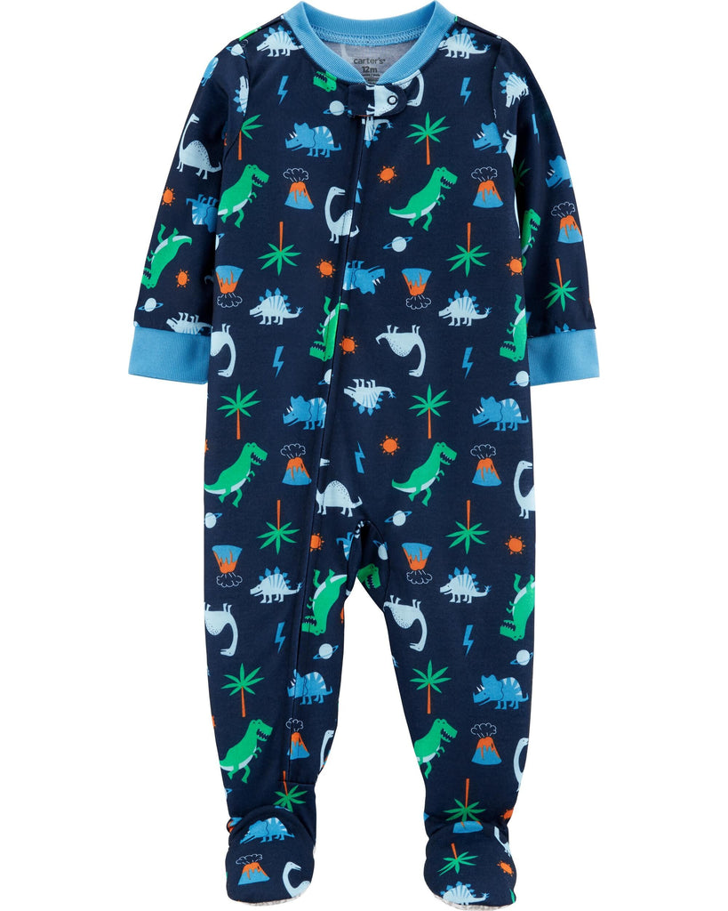 1-Piece Dinosaur Footed Poly PJs