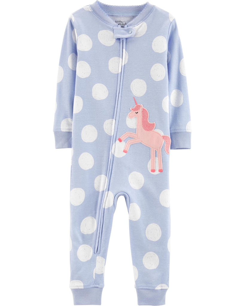 1-Piece Certified Organic Cotton Snug Fit Footless PJs