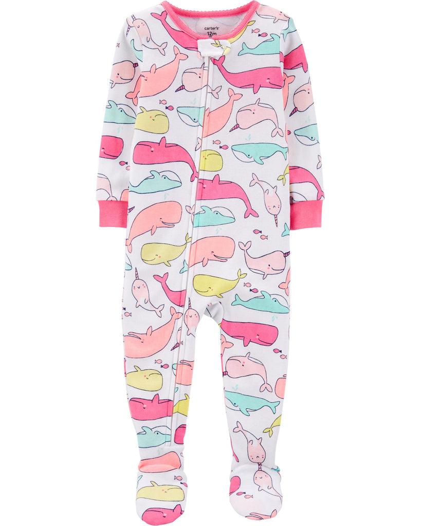 Carter's | 1-Piece Whale Snug Fit Cotton Footie PJs - Yashry