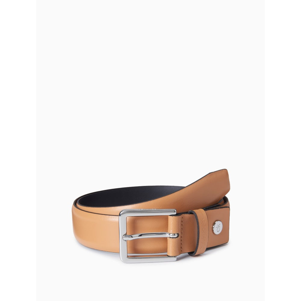 Calvin Klein | Leather Logo Plaque Dress Belt - Yashry